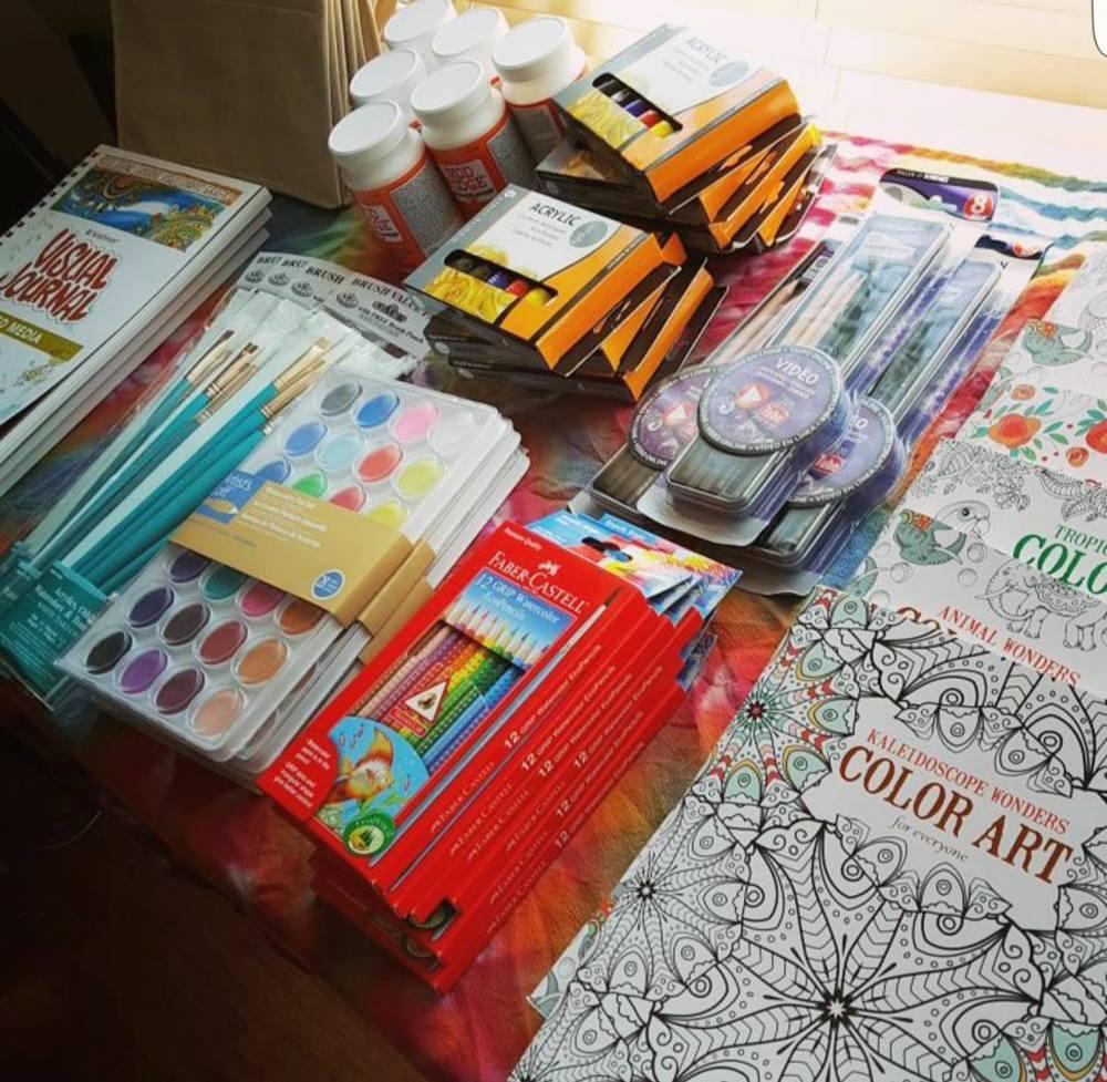 Supplies in Artist Packets