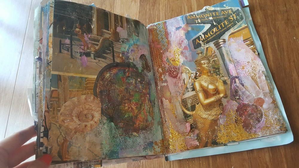 Original Altered Book of the Tucson Gem Show by Jamey Kahl