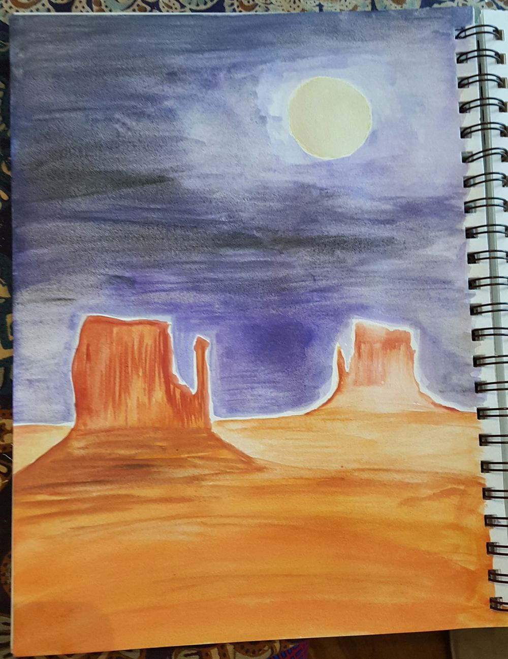 The Desert. Victoria. Watercolor. 2016