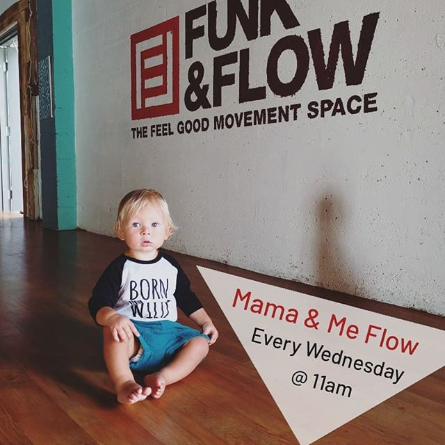 You know where to find us every Wednesday! ❤ @funkandflowstudio  #mamaandbaby #yoga #browardmoms #fitmom #momlife #mommyandme #fortlauderdale #yogastudio