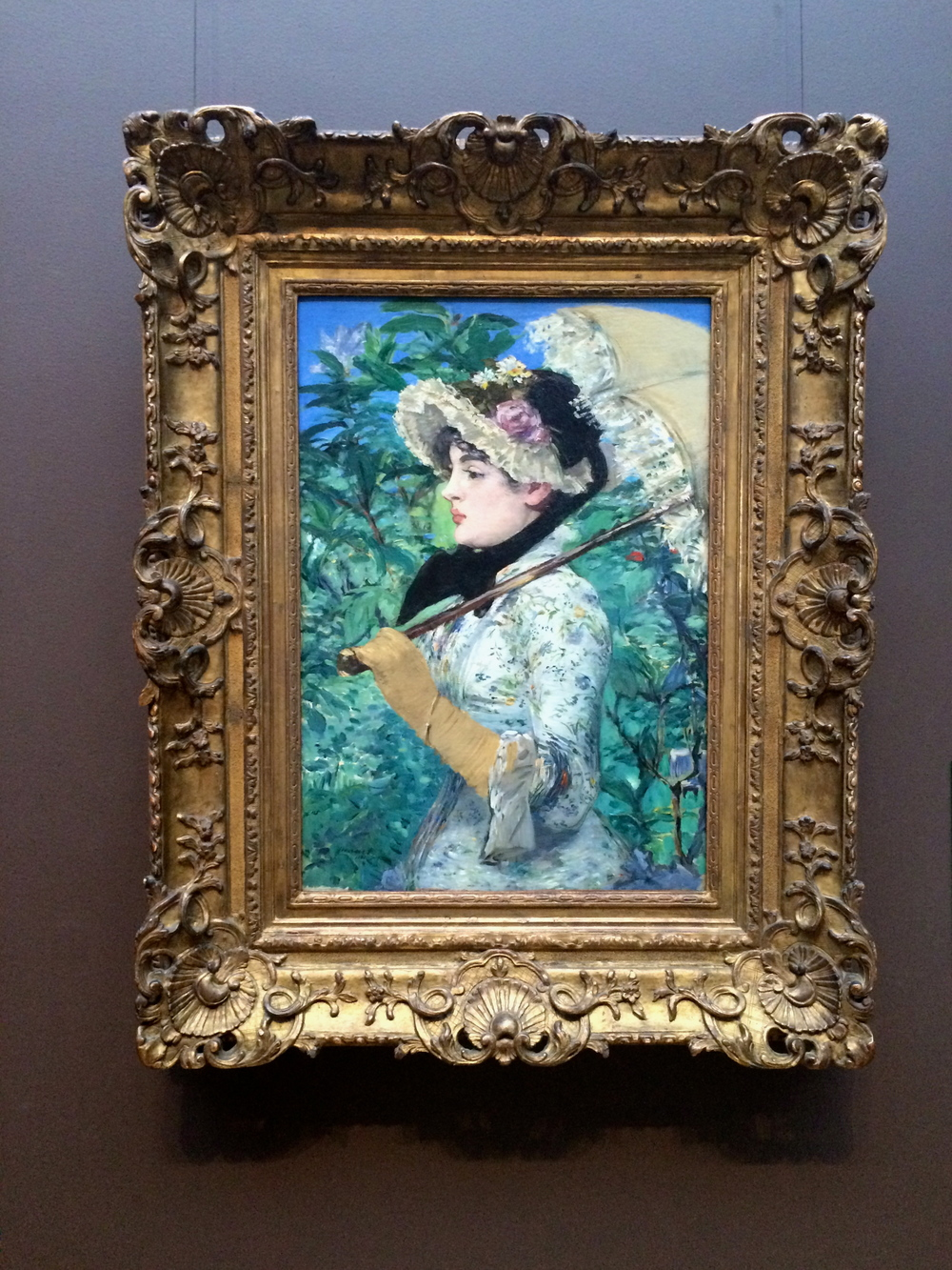 "Edouard Manet's ""Spring"" at the Getty Center."