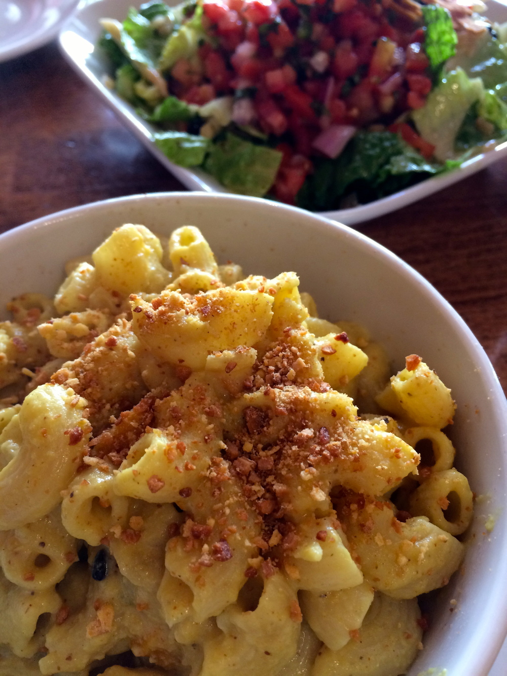 RFD - Vegan Mac & Cheese with a Southwest Salad.