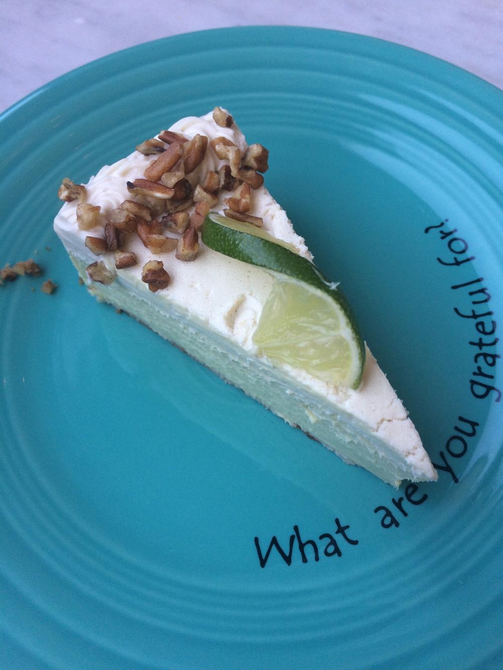 Cafe Gratitude - AWAKENING Key Lime Pie.