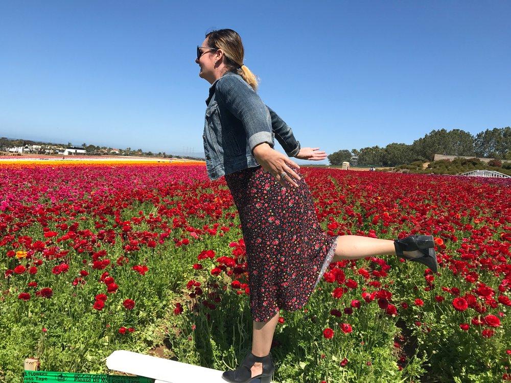 Fun in the Carlsbad Flower Fields