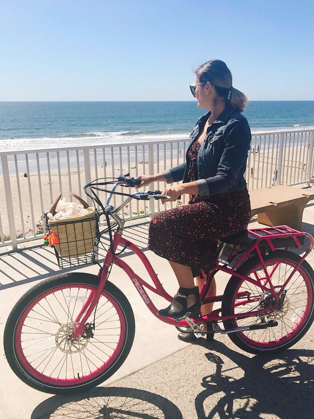 Bike ride at Carlsbad Beach, California