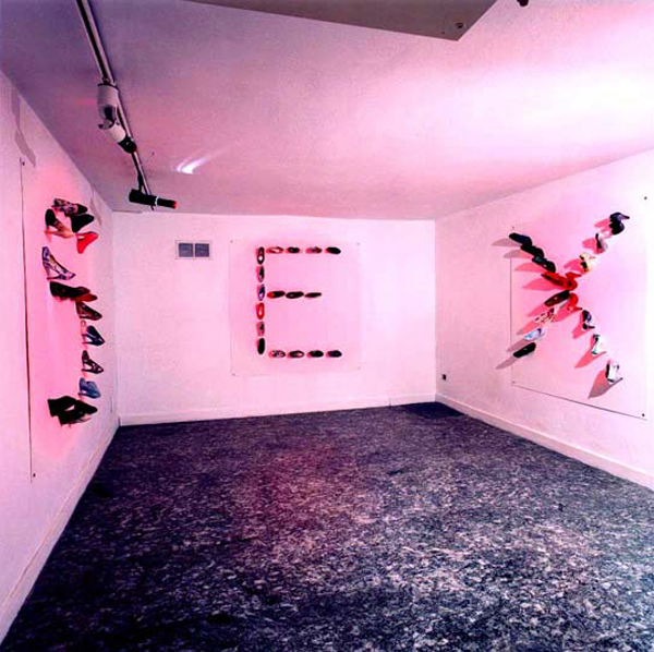 SEX, ceramic shoes, San Carpoforo, Milan, 2002