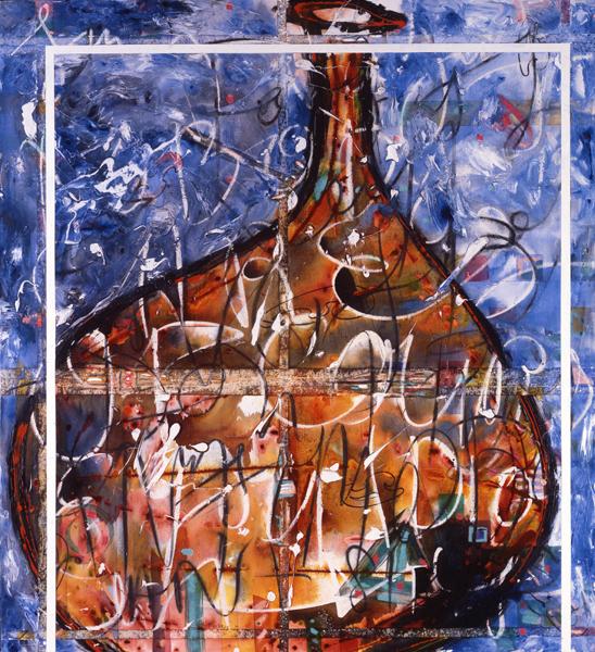 Oriental Blue 1994, Mixed Media on Canvas, 178x163cm