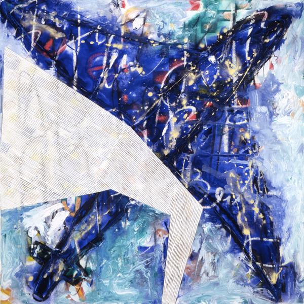 Mohawk 1994, Mixed Media on Canvas, 137x137cm