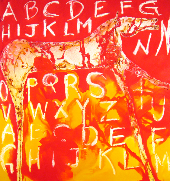 Alphabet Soup, 2004 Mixed media on canvas 76x70 in/193x176 cm