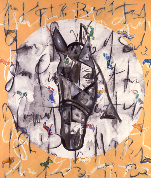 Horse, 1992 Mixed media on canvas 72x62 in/183x157 cm