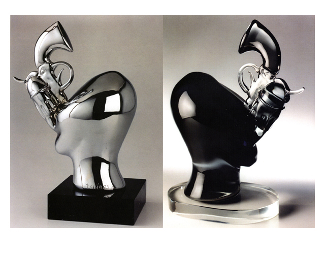 Aristocrat 2003/2002, Bronze Chrome/Glass, 47x35x25cm