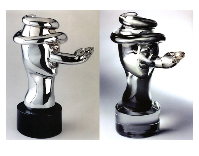 Exit Strategy 2003, Bronze Chrome/Glass, 47x31x24cm