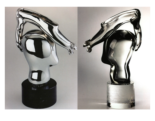 Imelda 2003, Bronze Chrome/Glass, 52x32x16cm
