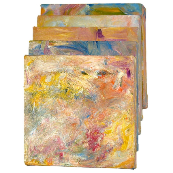 Monet (Sandwich), 2007 Mixed media on canvas, 5 panels 18 x 11 x 6 in / 45 x 28 x 15 cm
