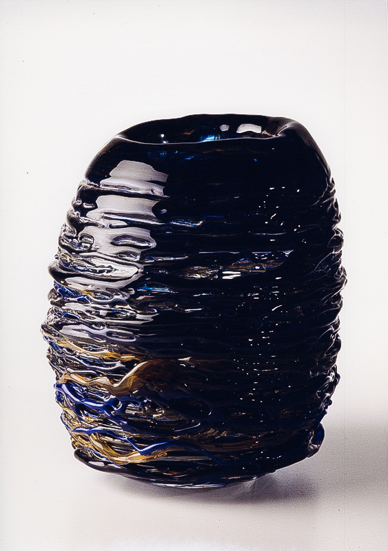 Bird Nest, Glass Sculpture  12x9x9 in /30x22x22 cm