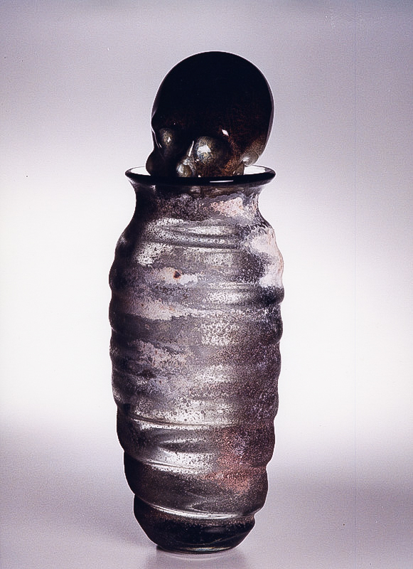 "Necrophiliac, 2001 Glass Sculpture  21x8x8""/ 55x20x20 cm"