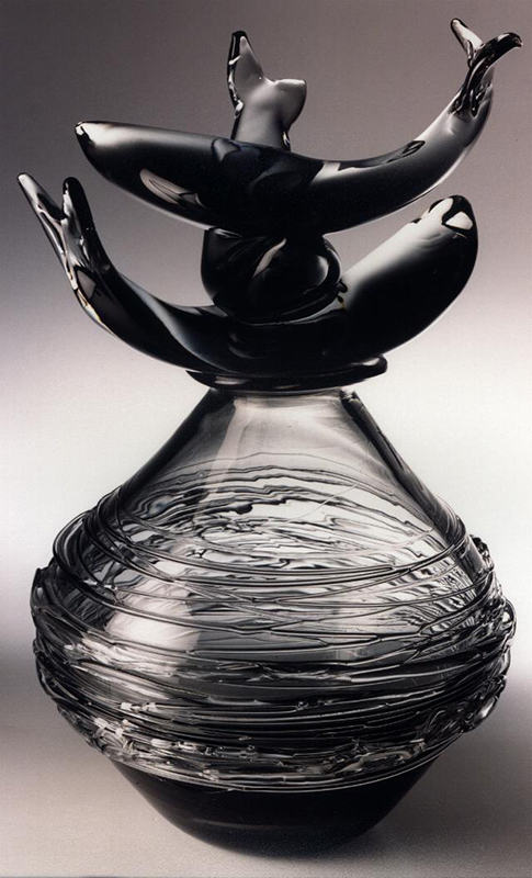 Asian fish, 2001 Glass Sculpture
