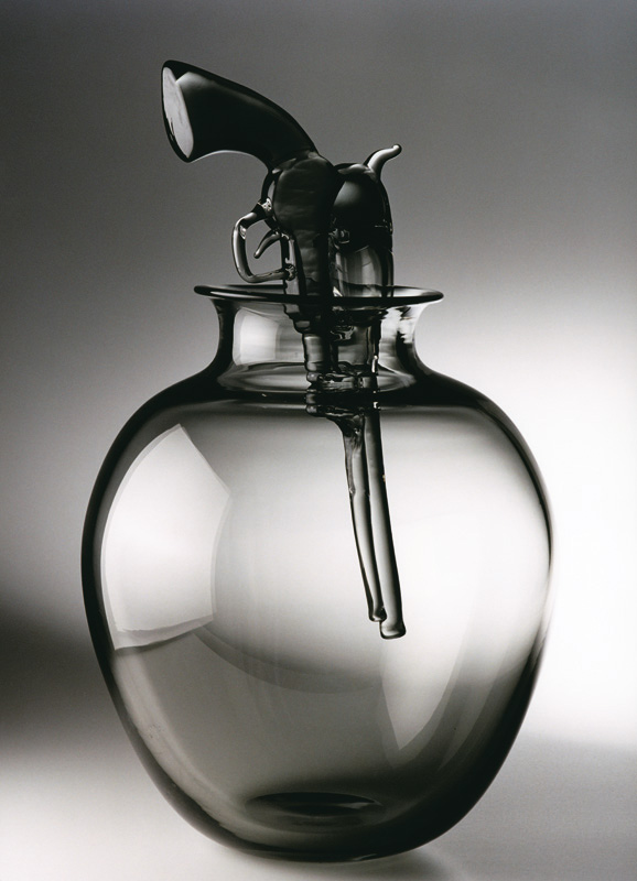 "Gunflower, 2002 Glass Sculpture  20x11x11""/ 52x28x28 cm"