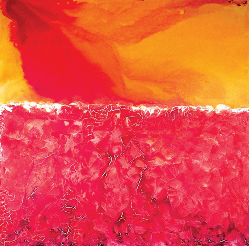 Fire Water, 2003 Mixed media on canvas 54x56 in / 137x141 cm