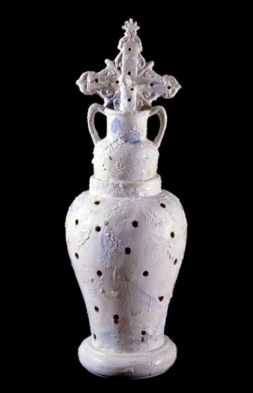 "Conquistador, 1991 Ceramic Sculpture  26x10x10""/66x25x25 cm"