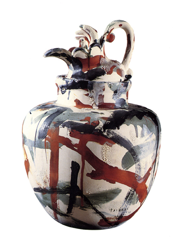 "Baby Martyr, 1993 Ceramic Sculpture  21x19x12""/ 53x48x30 cm"