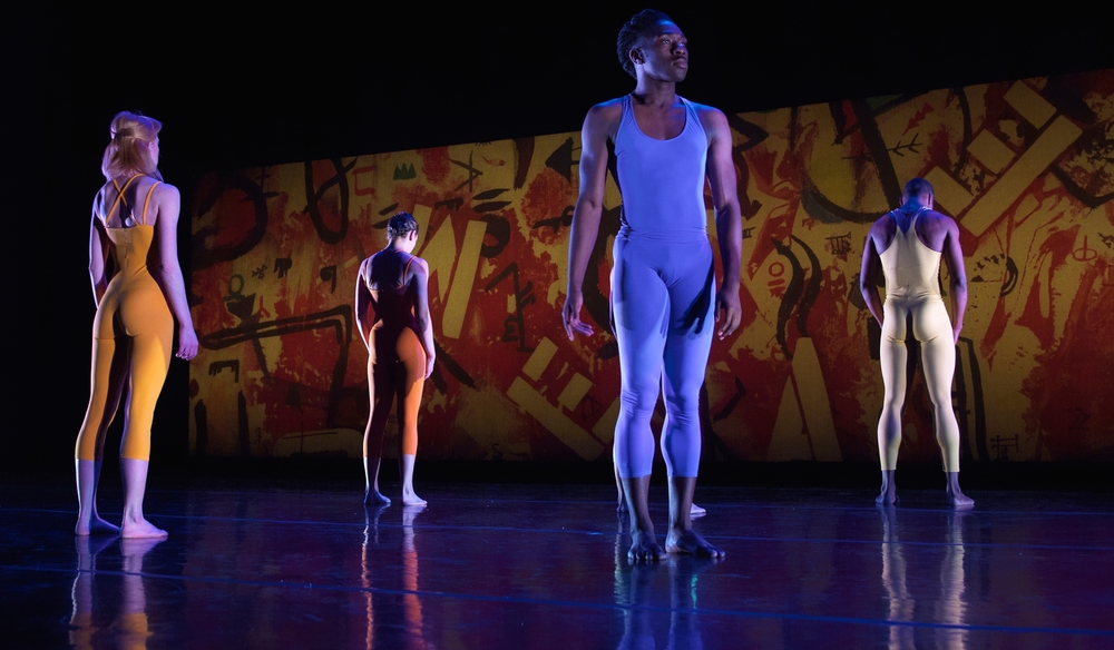 "Original production of ""VANISHING LANGUAGES"" for Elisa Monte Dance Company at the Joyce theater. Set and costumes by Philip Tsiaras"
