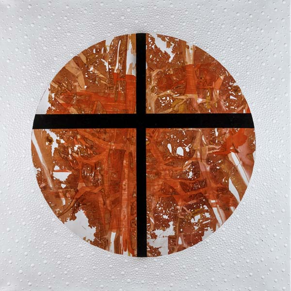 Black Cross, 2014 Mixed media on canvas 40x40 in/101x101 cm