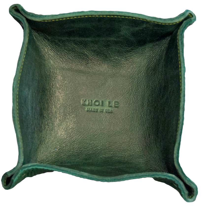 Khoi Le Green Leather Personal Tray.png