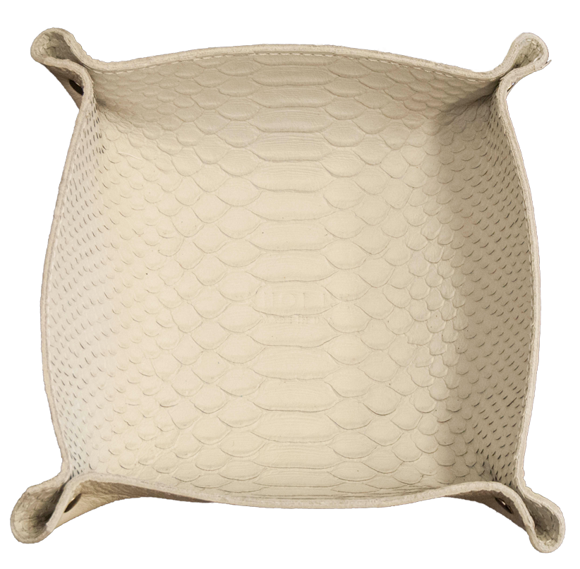 Khoi Le White Snake Skin Personal Leather tray.png