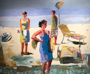 LINDA CHRISTENSEN.Tableau, 2016. Oil on canvas. Courtesy of the artist.