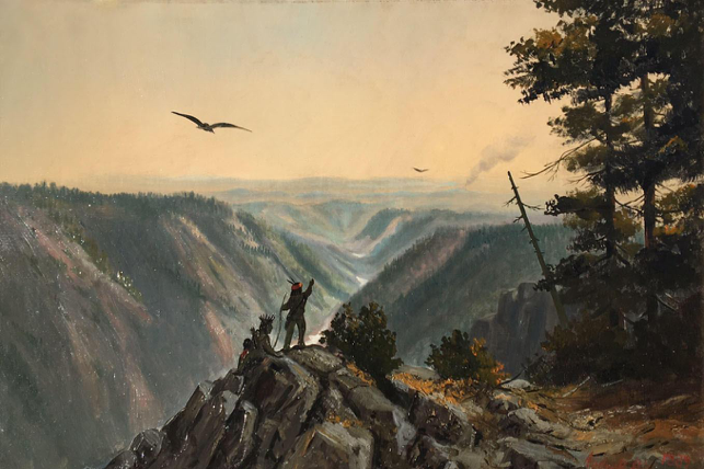 Andrew P. Hill, Indian Headwaters of the American River, 1889, Oil on canvas, Courtesy of Charles Bergtold