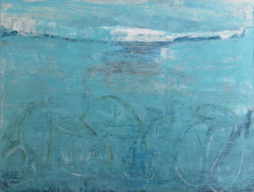 "Christel Dillbohner.  Frozen in Time,  2012-14 ,  Oil, cold wax on linen, 55"" x 72"", Courtesy of Don Soker Contemporary Art, SF"