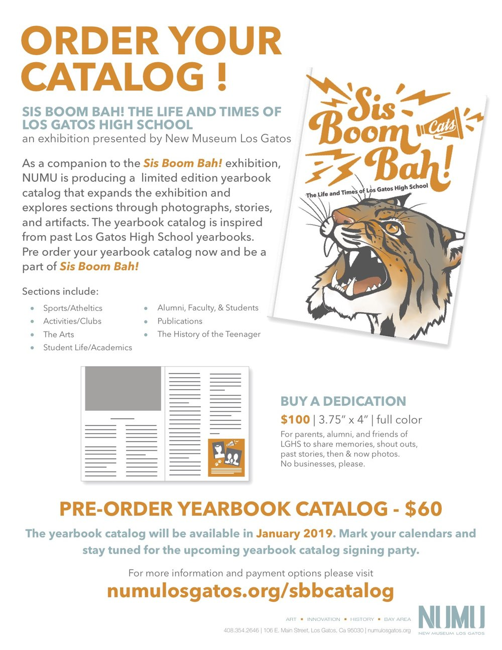 Yearbook catalog pre order form LGHS Exhibition Sis Boom Bah.jpg