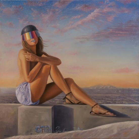 Estamos Sonando? 36x36 - Oil on Canvas $2,500