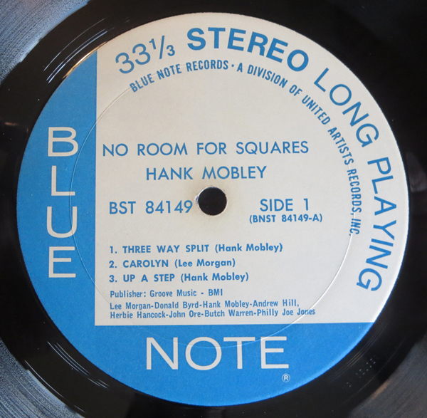 "HANK MOBLEY - ""NO ROOM FOR SQAURES"" - Label"