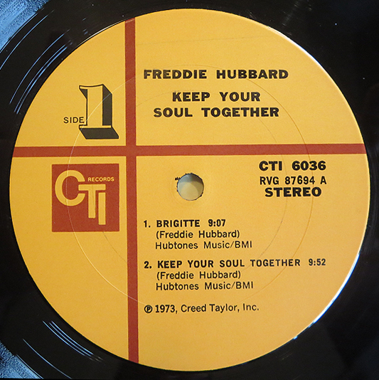"Freddie Hubbard - ""Keep Your Soul Together"" - Label"