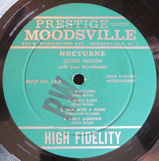 "Oliver Nelson - ""Nocturne"" - Label"
