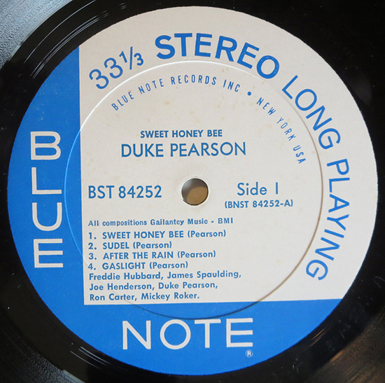 "Duke Pearson - ""Sweet Honey Bee"" - Label"