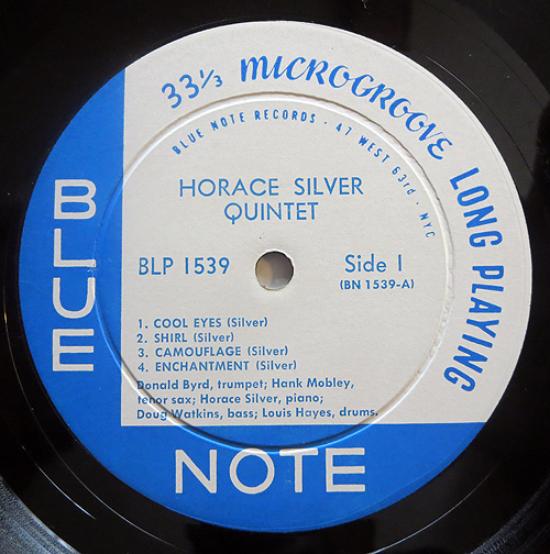 "Horace Silver - ""6 Pieces Of Silver"" - Label"