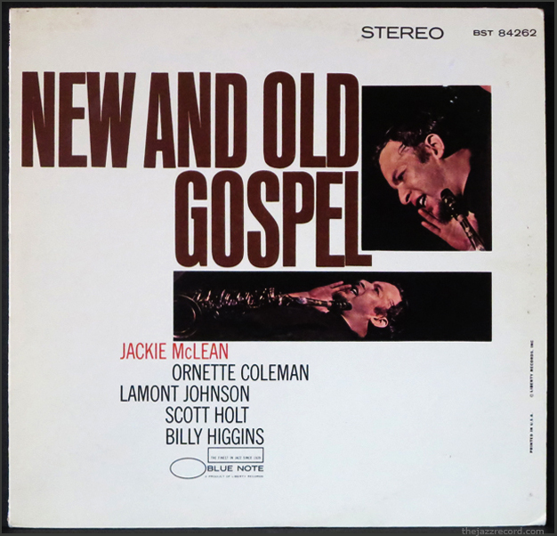 "Jackie mclean ""new and old gospel"" front cover"
