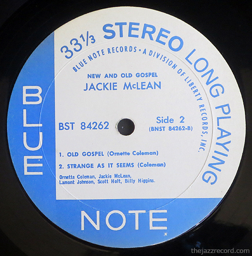 "jackie mclean - ""new and old gospel"" - label"
