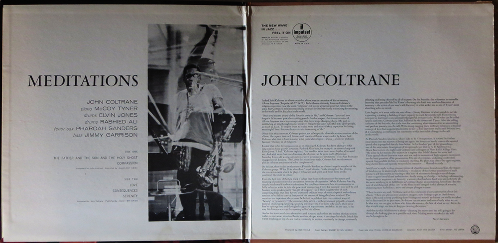 "John Coltrane - ""Meditations"" - gatefold cover"