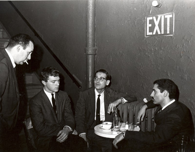 Orrin Keepnews With The Bill Evans Trio At The Village Vanguard In 1961. Photo Credit Unknown.