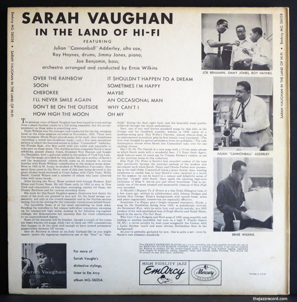 sarah-vaughan-in the land of hi fi-back cover-lp