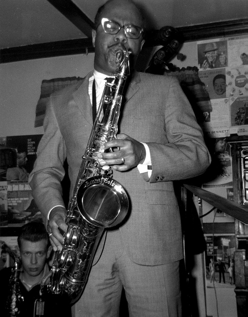 Benny Golson (with the Herb Pomeroy Big Band at Lennie's on the Turnpike), 1963. (Photo Credit Unknown)