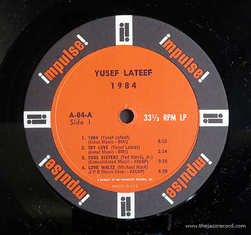 Yusef Lateef - 1984 - LP Label