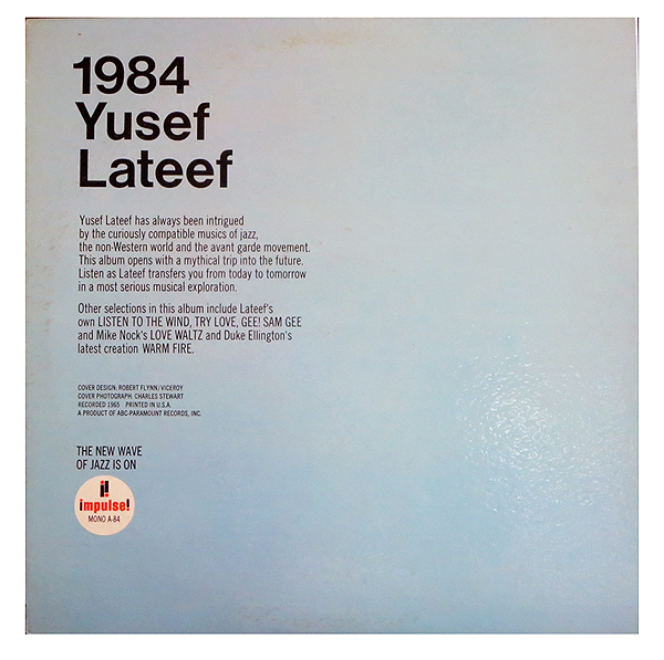 Yusef Lateef - 1984 - Back Cover