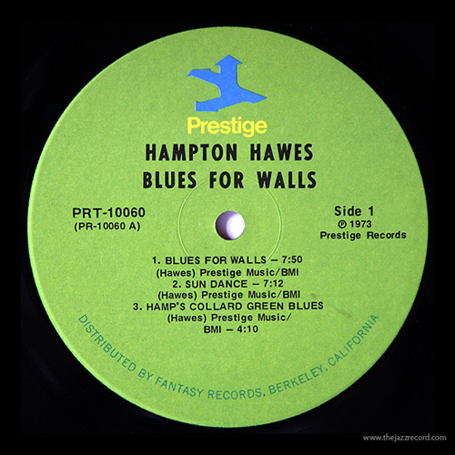 Hampton Hawes - Blues For Walls