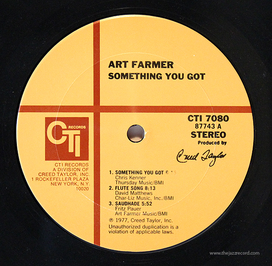 art-farmer-something-you-got-label-lp