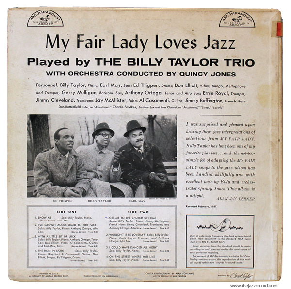 billy-taylor-my-fair-lady-loves-jazz-back-lp